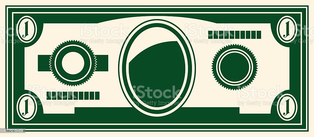 one dollar vector art illustration