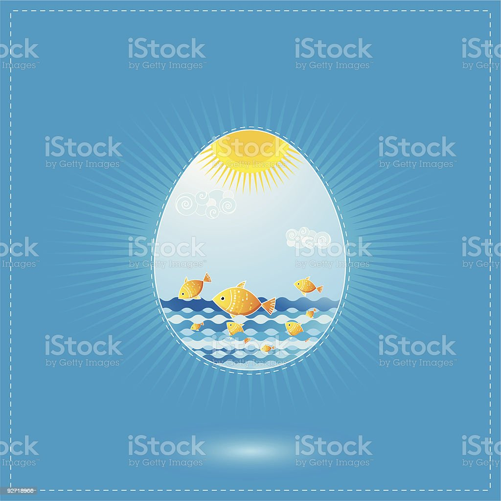 One easter eggs royalty-free stock vector art