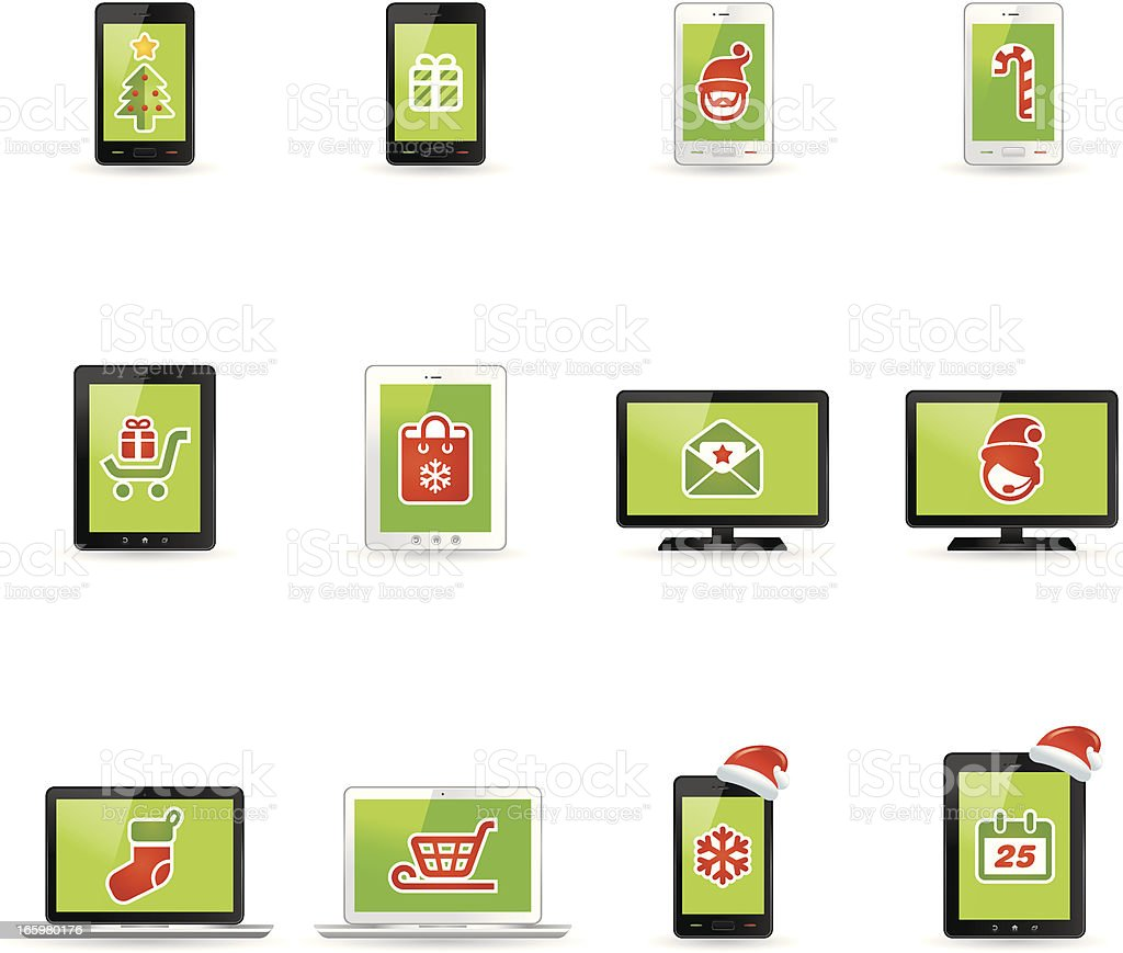 Online Christmas Icons | Gradient Series royalty-free stock vector art