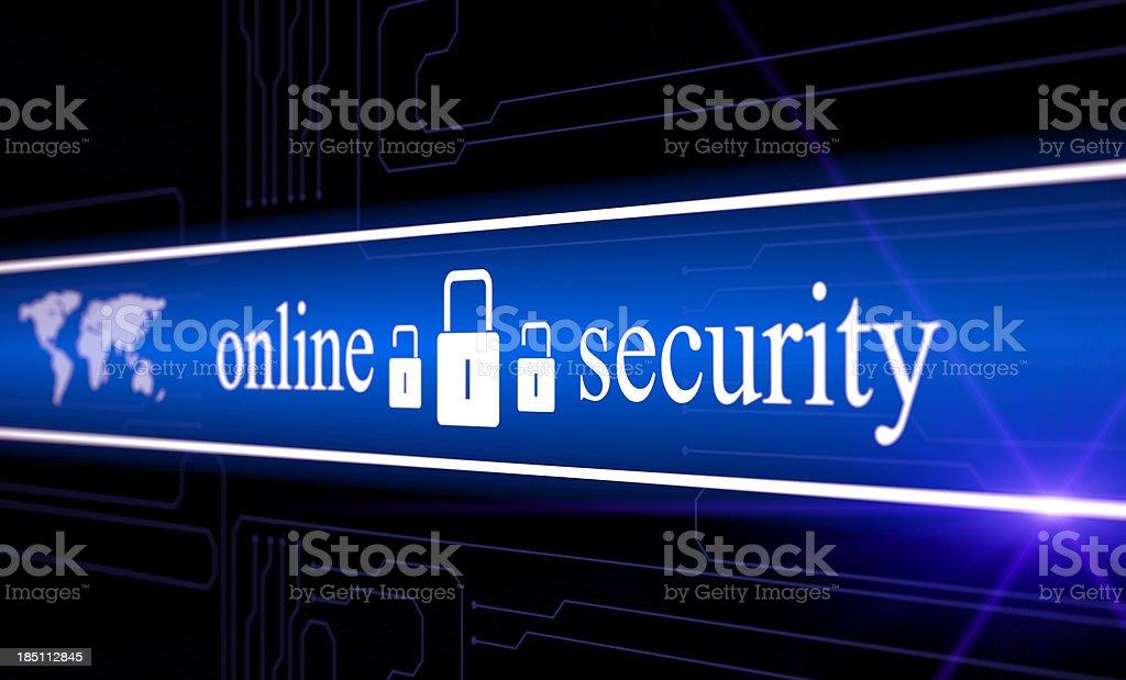 Online digital security royalty-free stock vector art