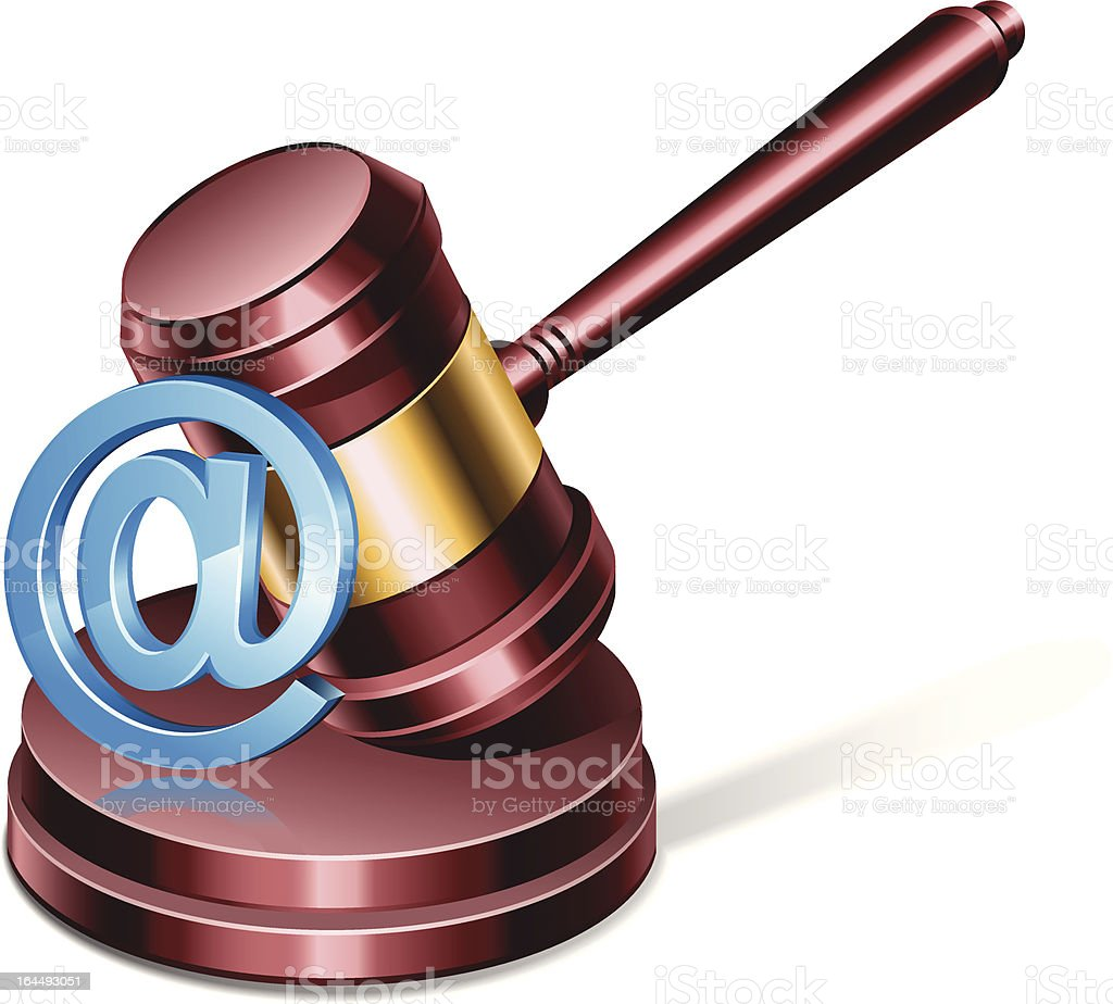 Online Law royalty-free stock vector art