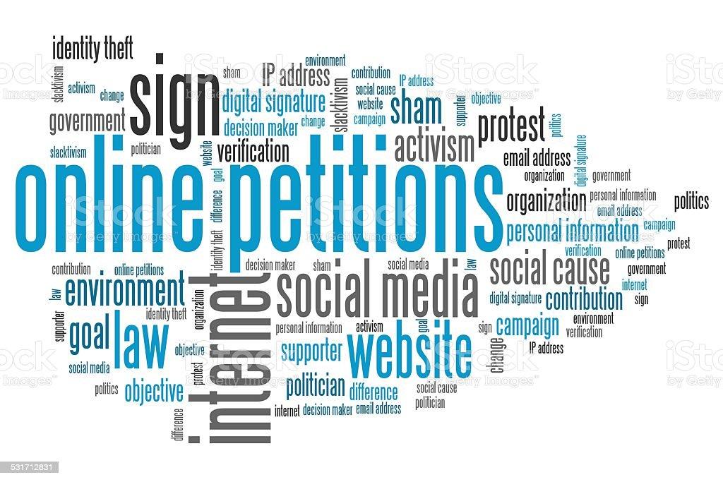Online petitions vector art illustration