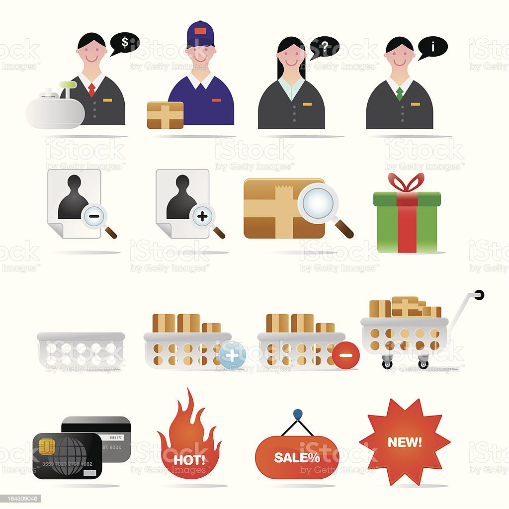 Online Shopping & Retail Icons Set I Series One royalty-free stock vector art