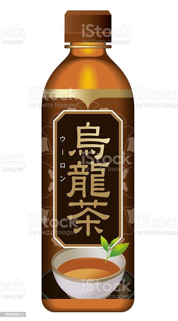 Oolong. PET bottles. vector art illustration