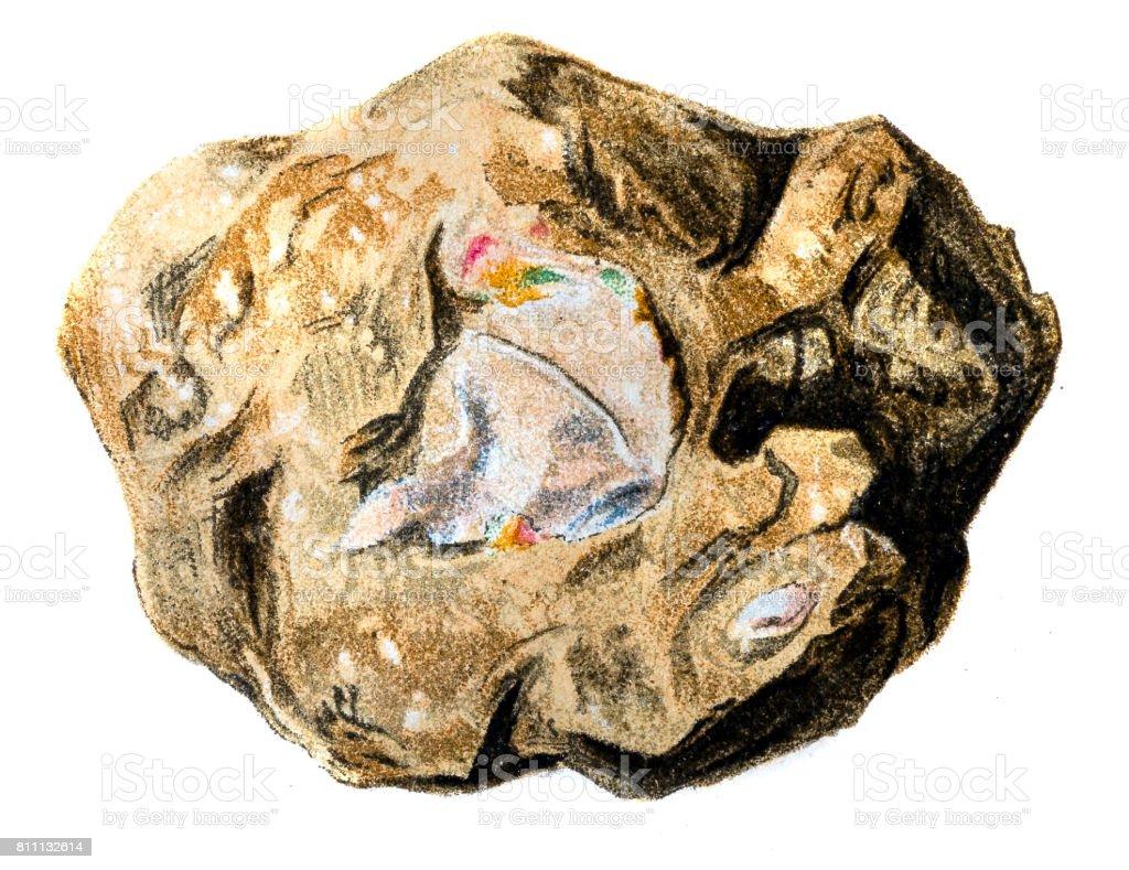 Opal vector art illustration