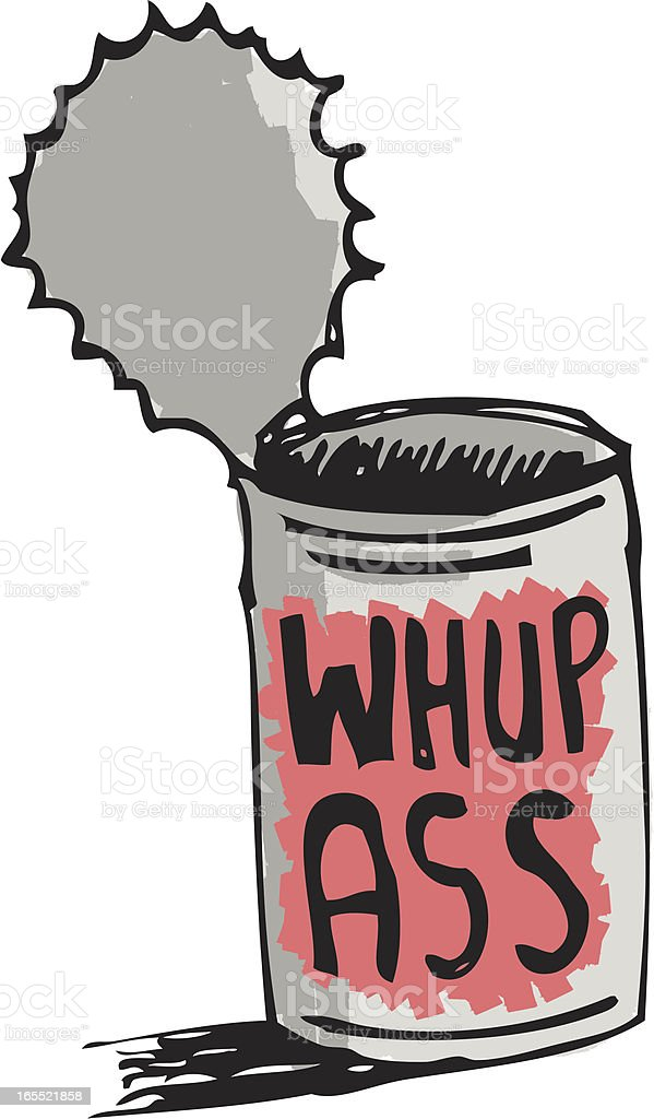Open a can of whup ass royalty-free stock vector art