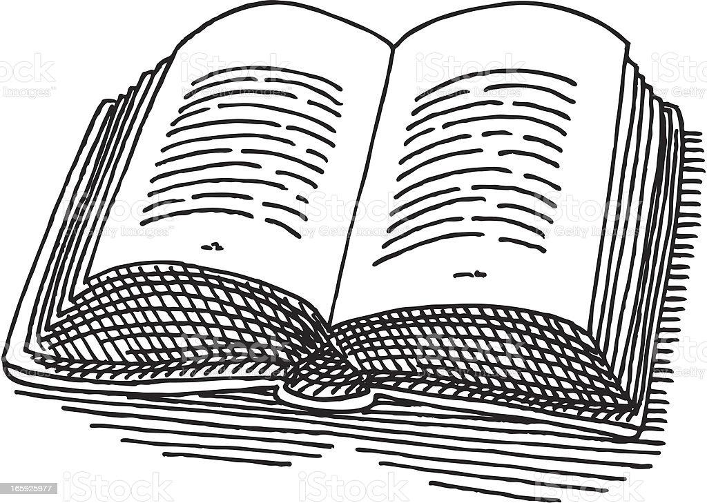 Libro Abierto De Dibujo Illustracion Libre De Derechos