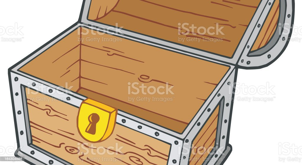 Open empty treasure chest royalty-free stock vector art