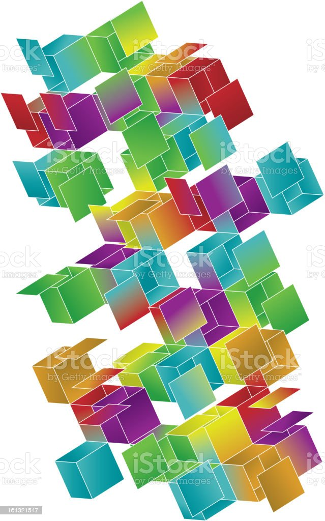 Open Gradient Cube Page Design royalty-free stock vector art