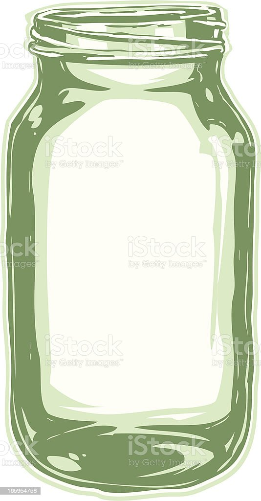 open mason jar royalty-free stock vector art