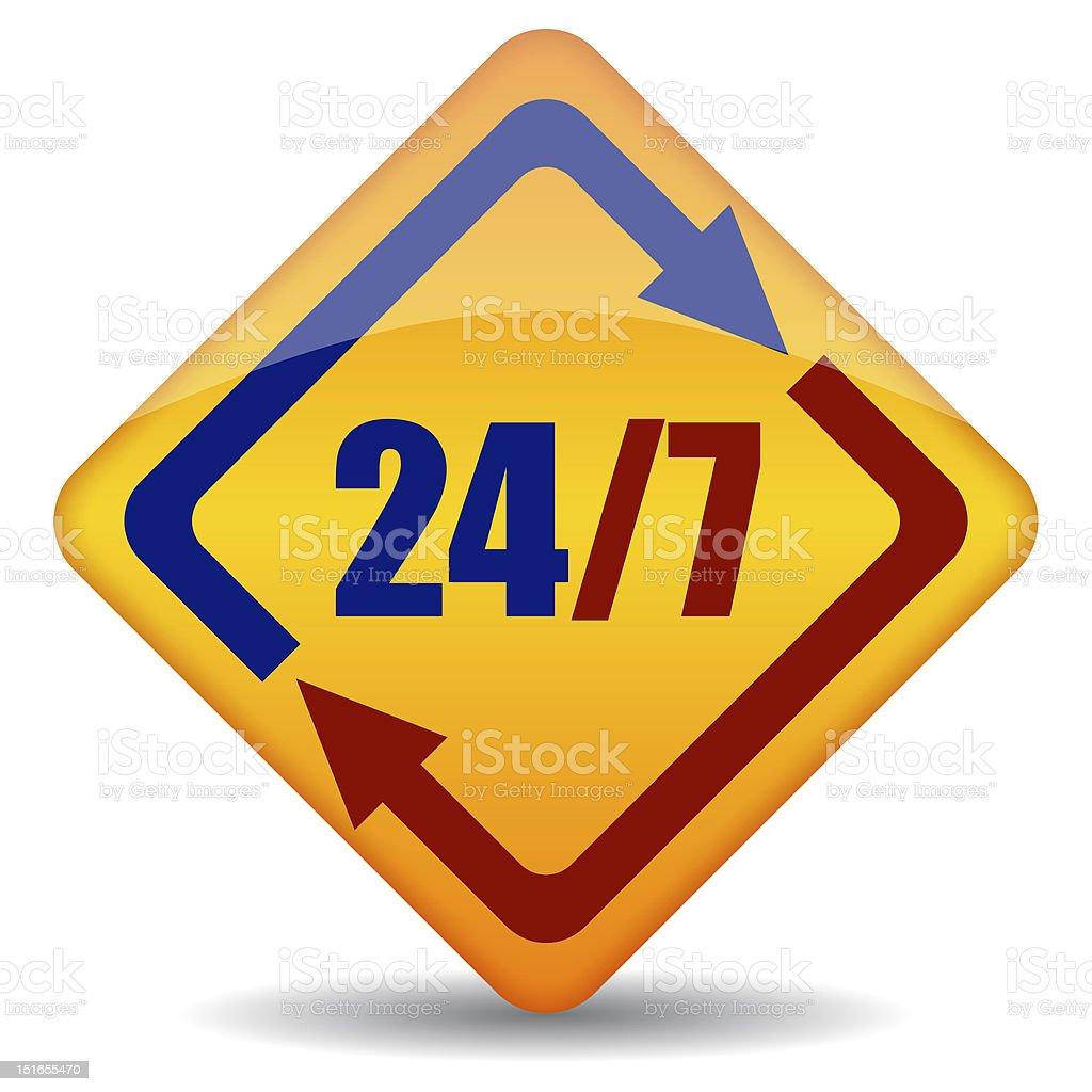 Open twenty four seven royalty-free stock vector art
