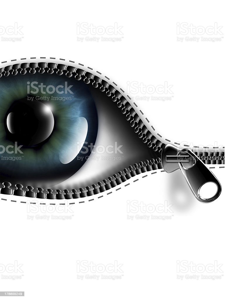 open your eyes royalty-free stock vector art