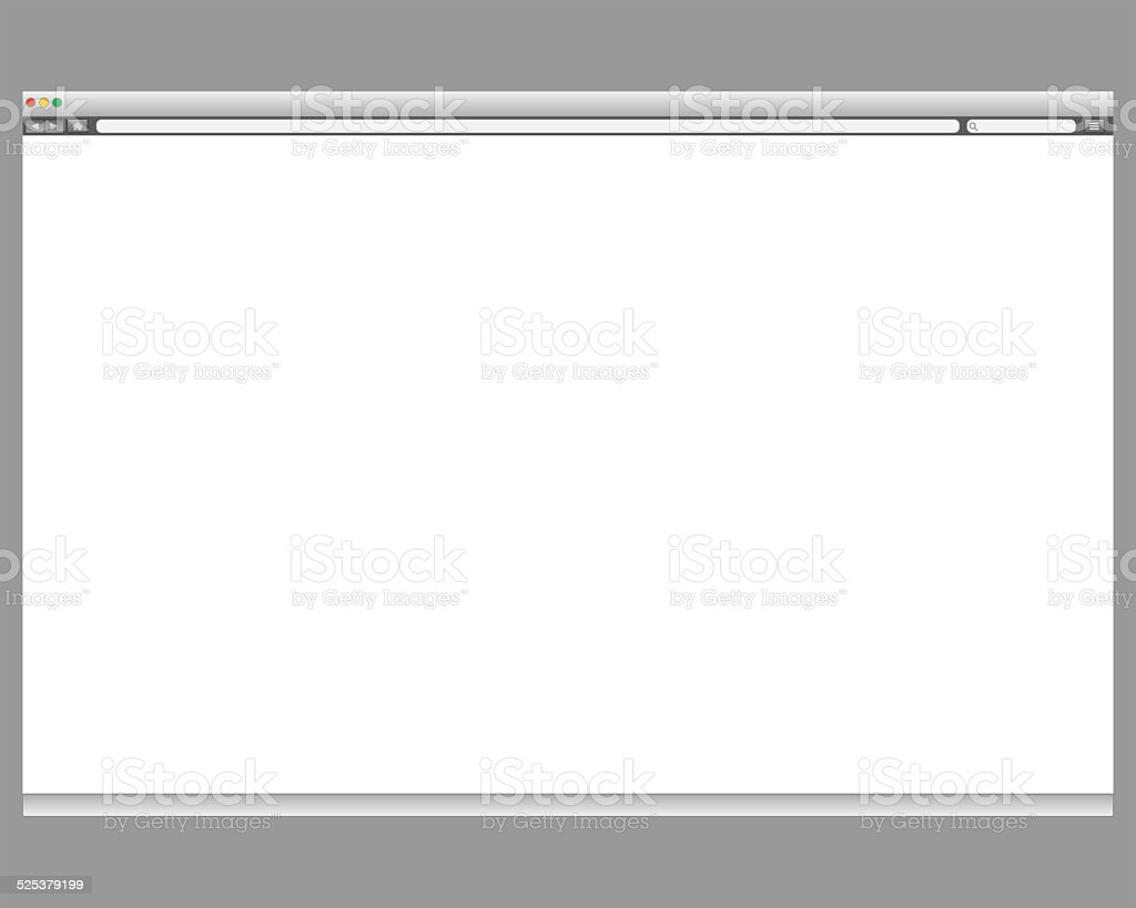 Opened browser window template. vector art illustration