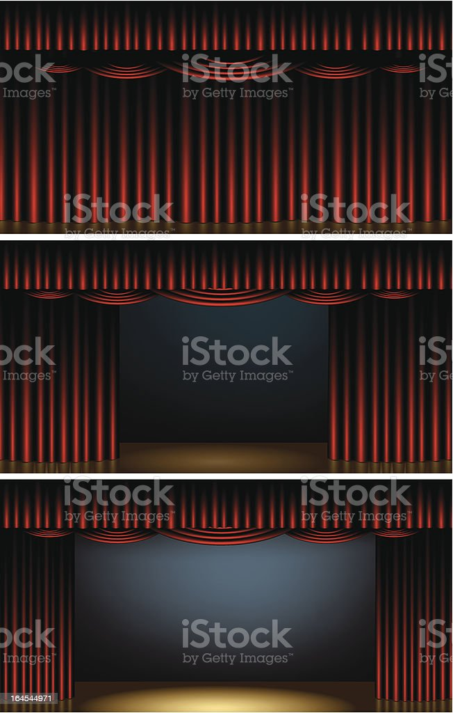 Opening Stage royalty-free stock vector art