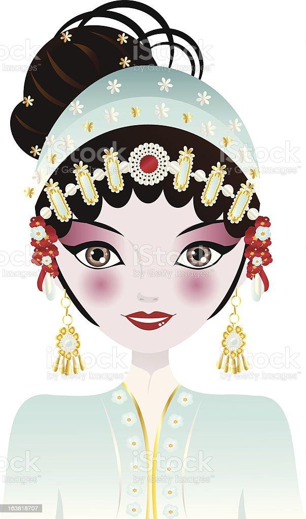 Opera Chinese Woman royalty-free stock vector art