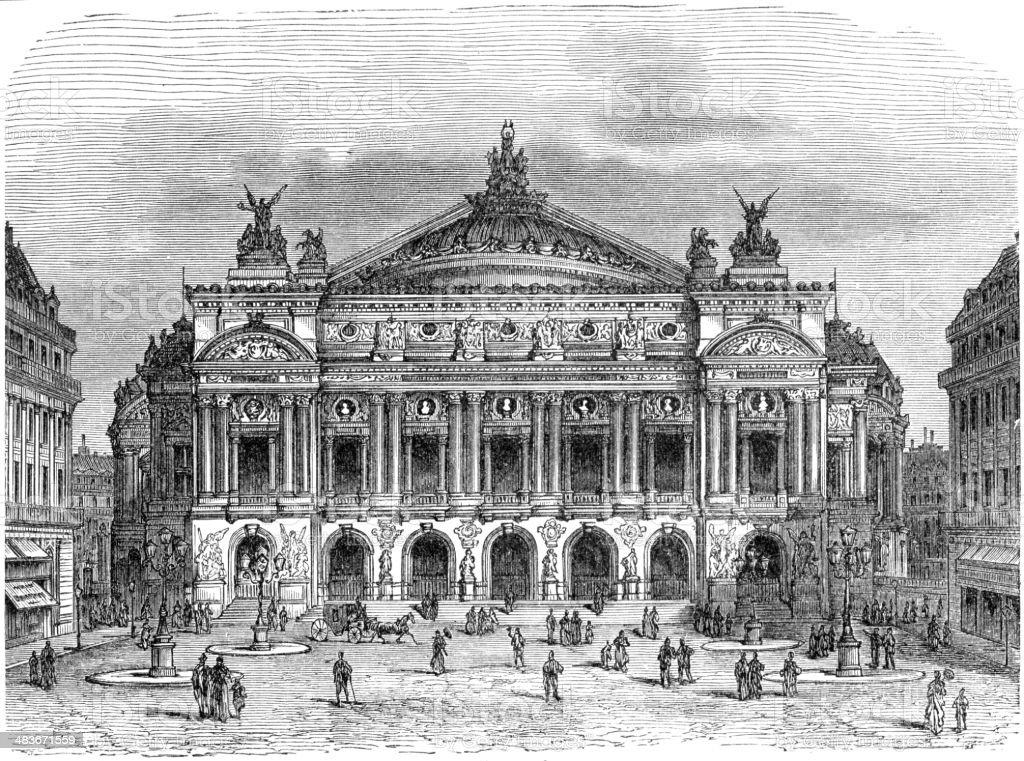 Opera Garnier vector art illustration
