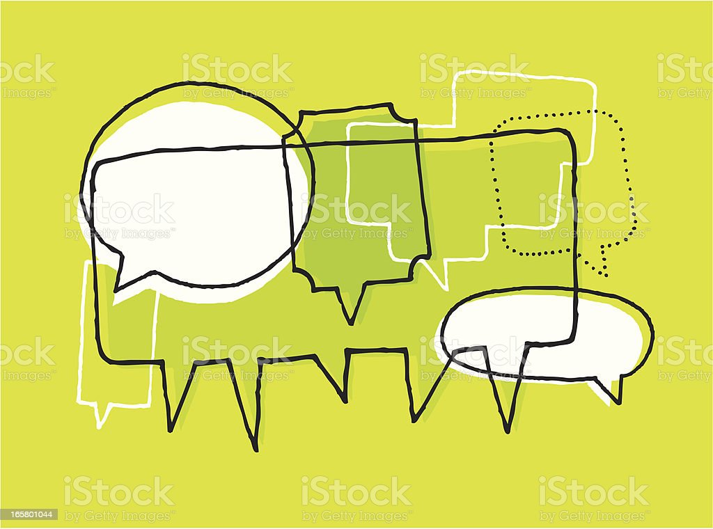 Opinions, discussion and brainstorm vector art illustration