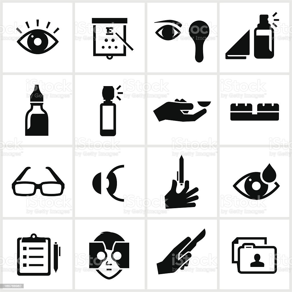 Optometry Icons royalty-free stock vector art