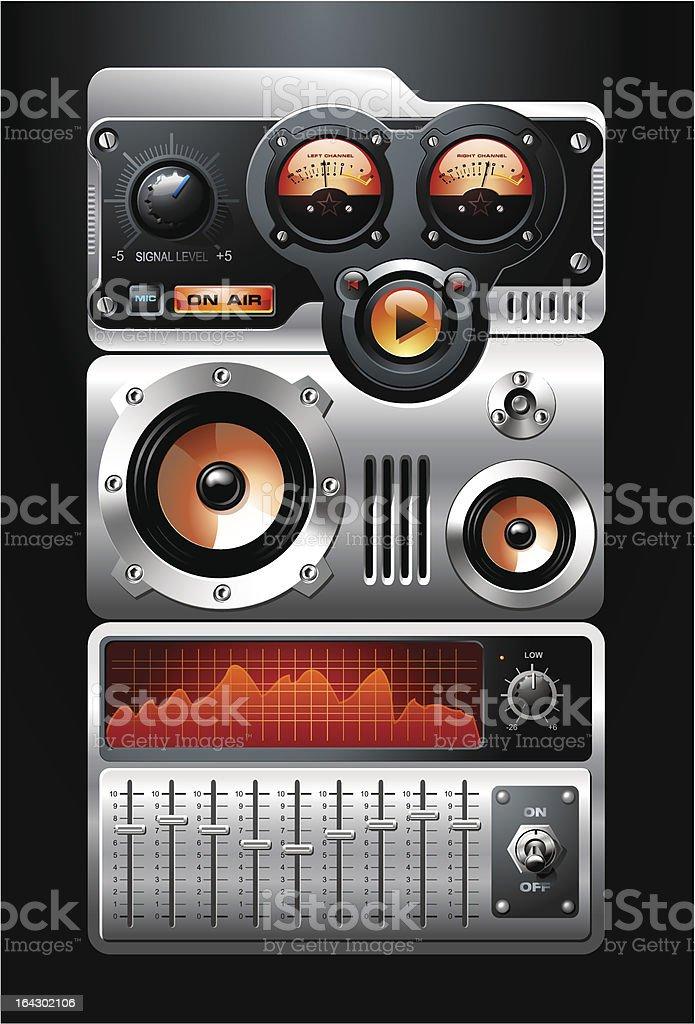 Orange Analog MP3 Player royalty-free stock vector art