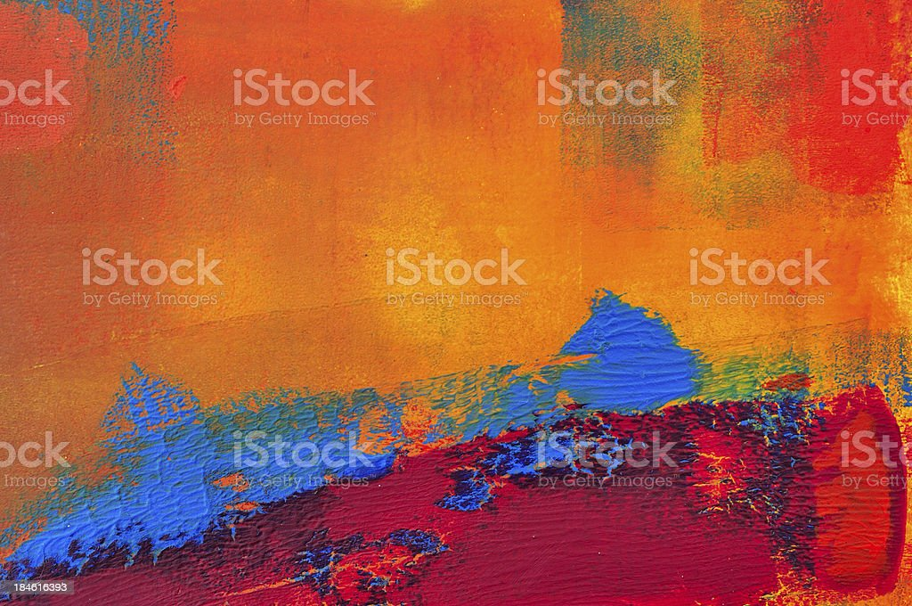 Orange and blue abstract one vector art illustration