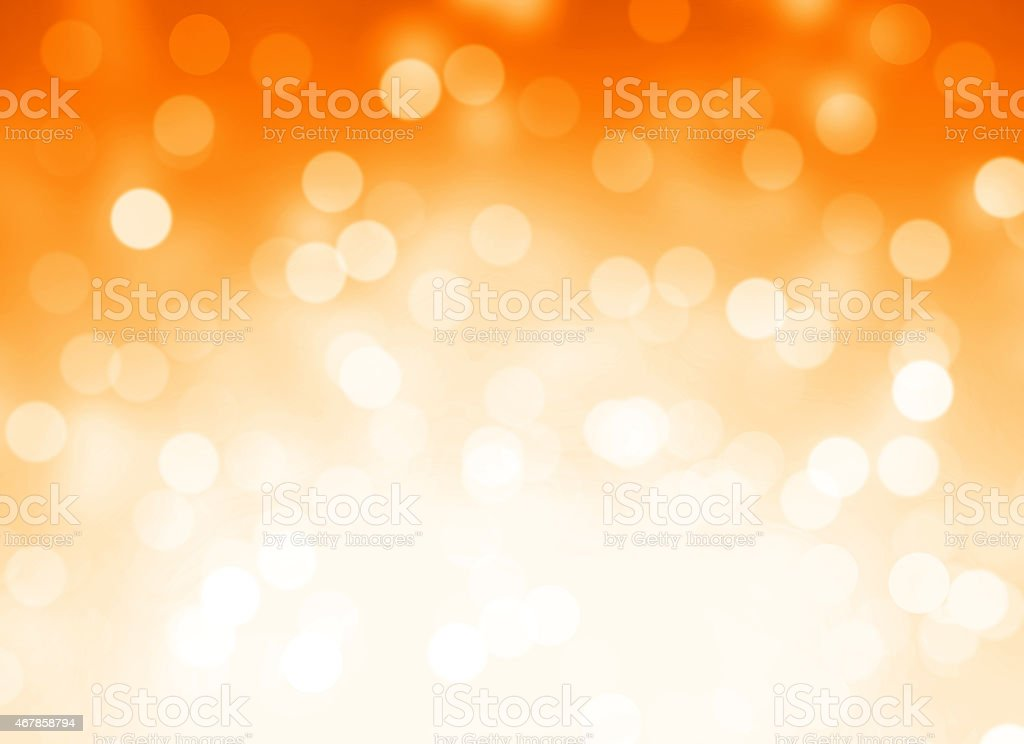 Orange background with out of focus lights vector art illustration