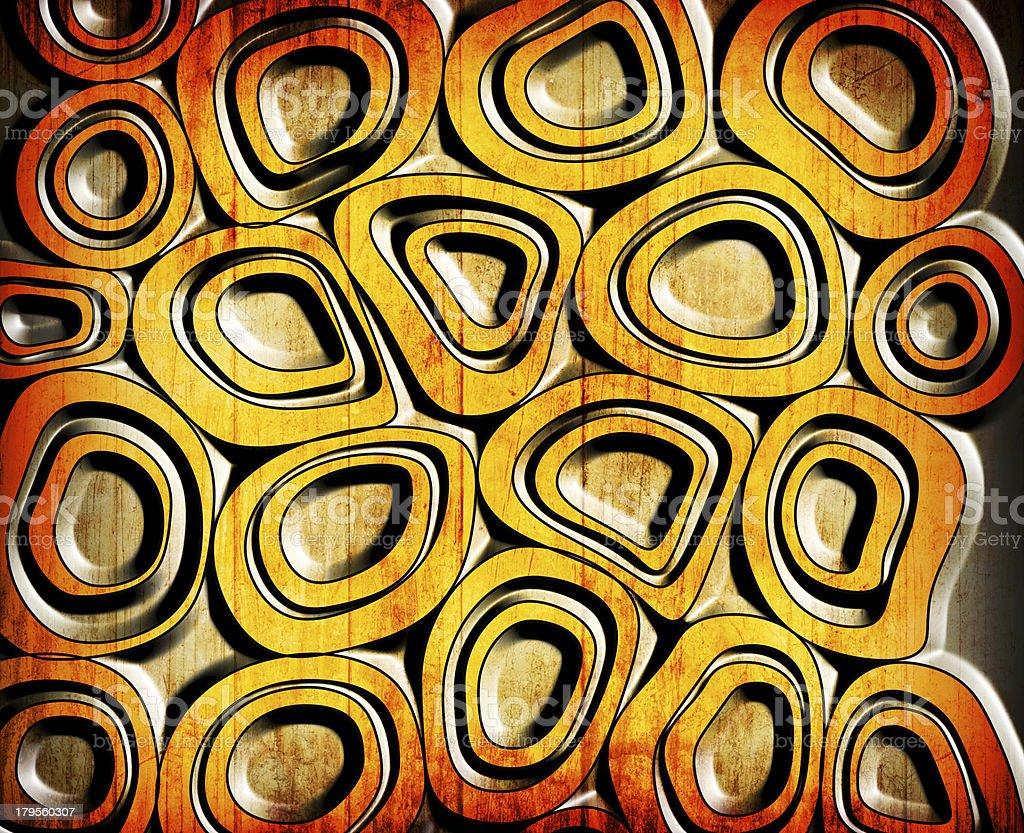 orange circles grunge background royalty-free stock vector art