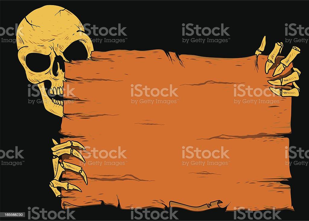 orange halloween sign royalty-free stock vector art
