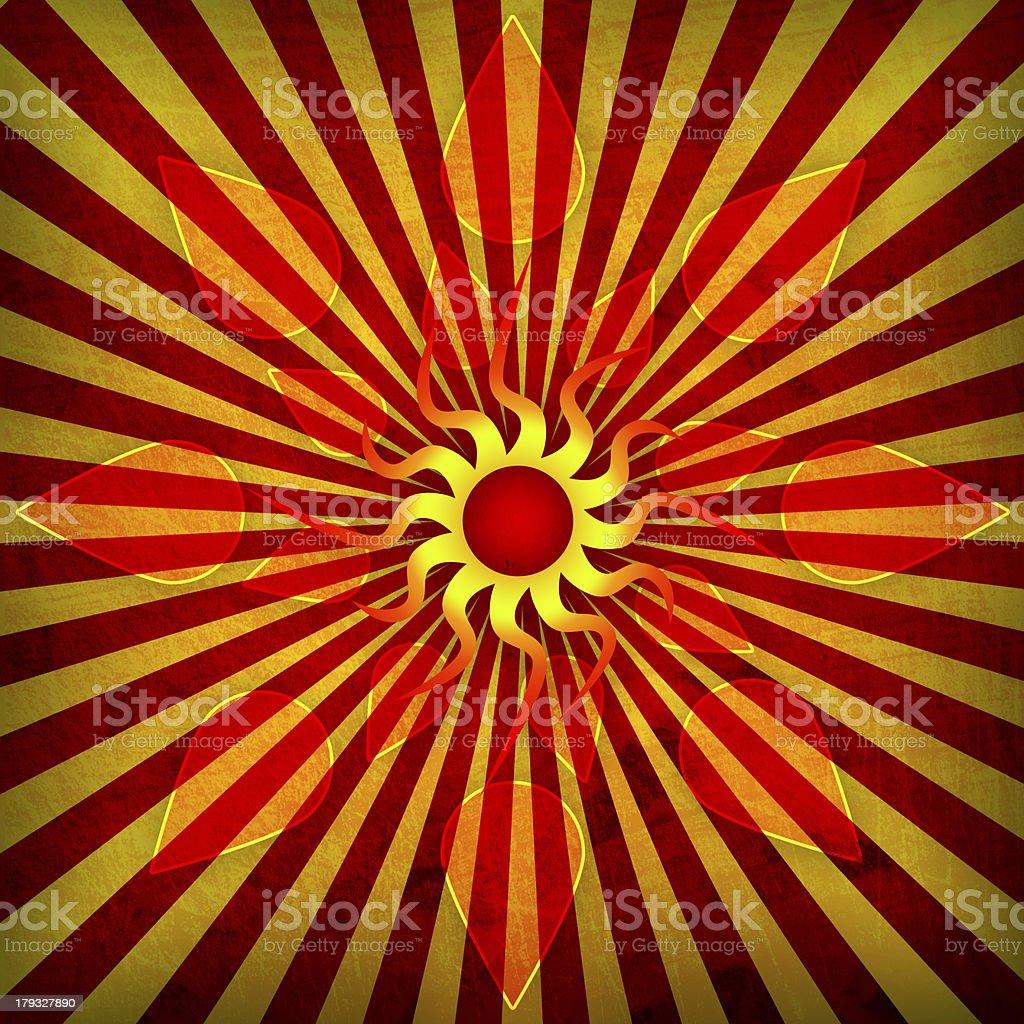 orange spirutal sun background royalty-free stock vector art