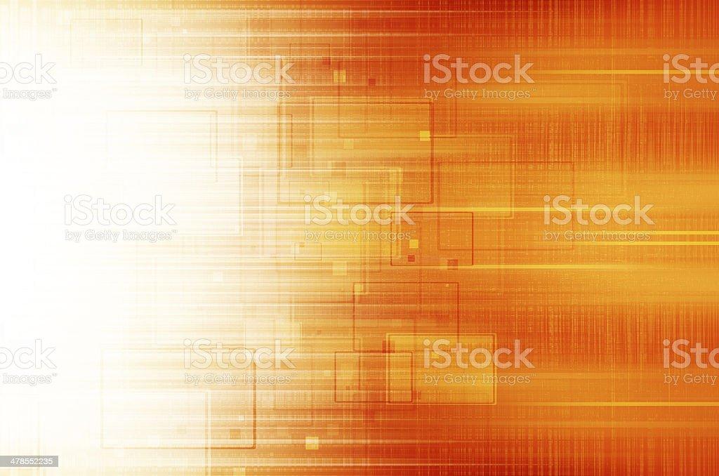 Orange technical background. vector art illustration