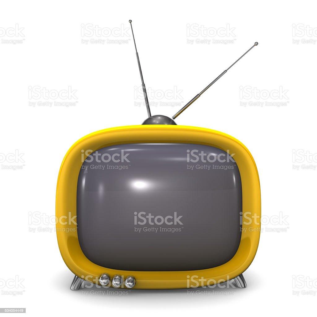 Orange TV vector art illustration
