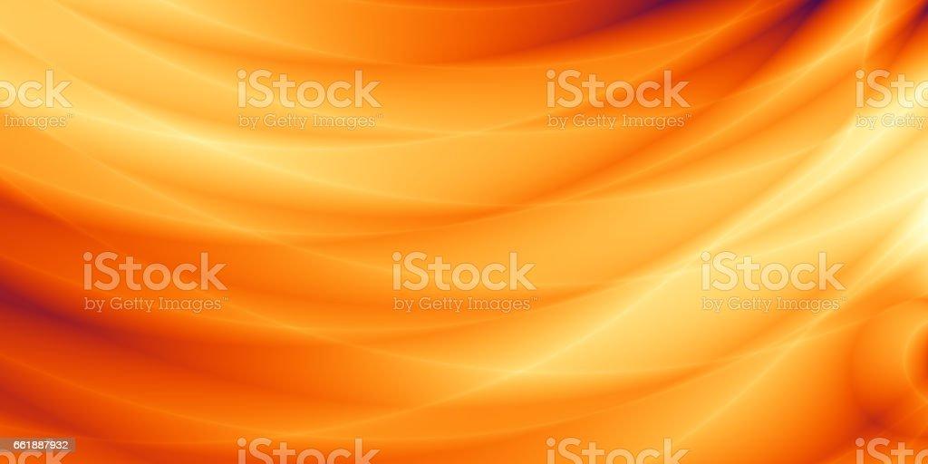 Orange wallpaper modern wave sunset design vector art illustration