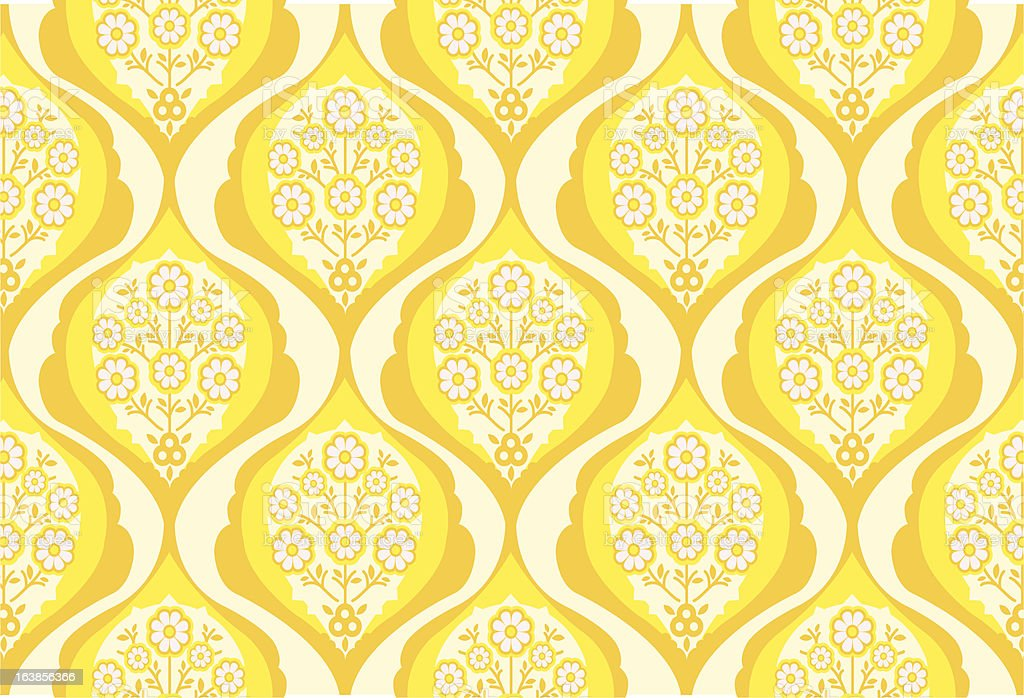 Orange wallpaper pattern royalty-free stock vector art