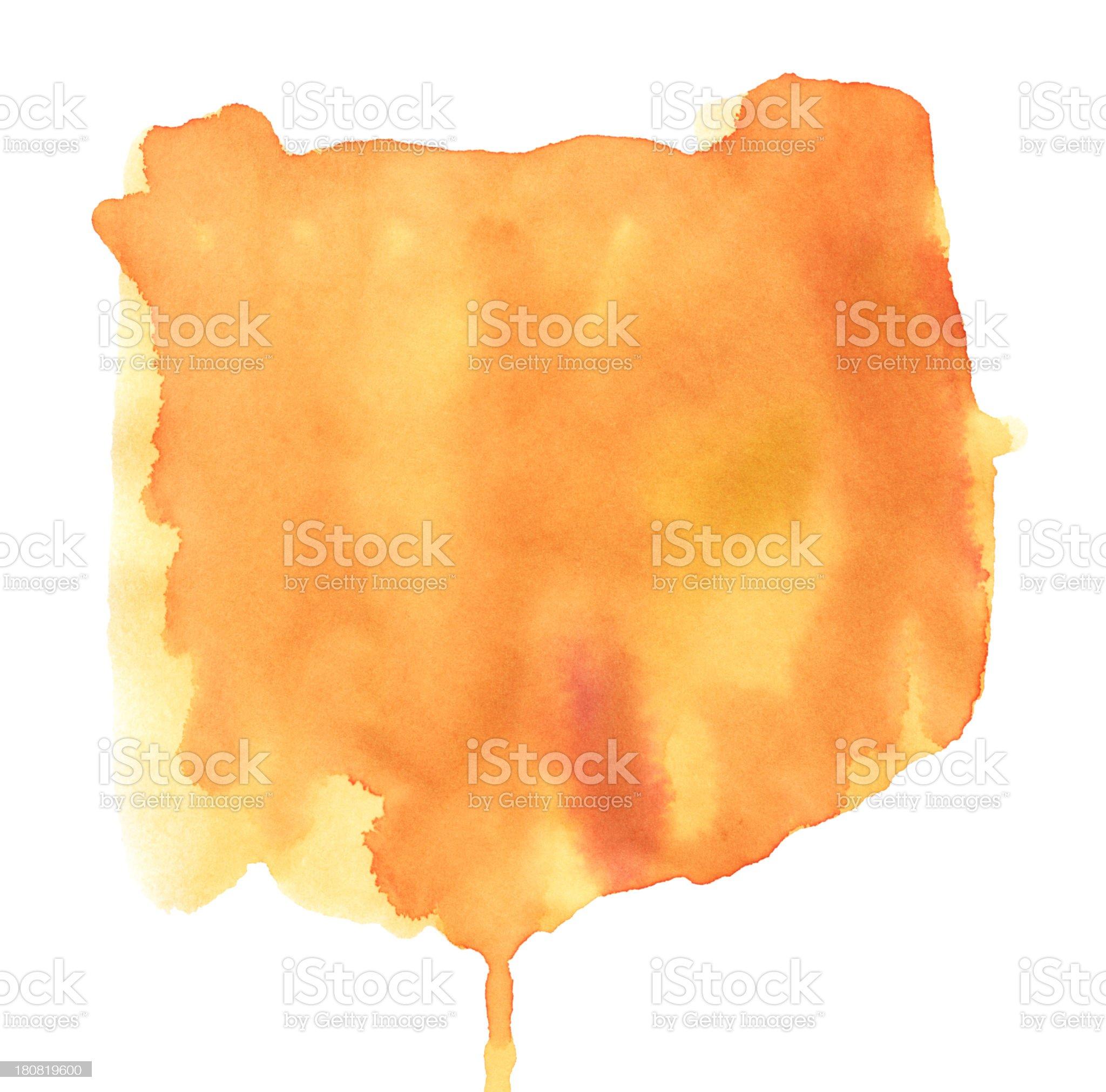 Orange Watercolor Paint Stock Texture royalty-free stock vector art
