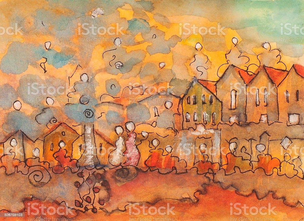 Naranja mundo 1 illustracion libre de derechos libre de derechos