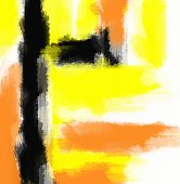 orange yellow and black painting abstract