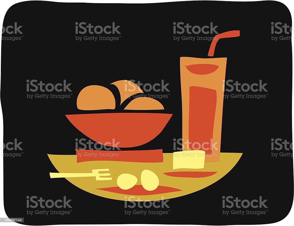 Orange's in black royalty-free stock vector art