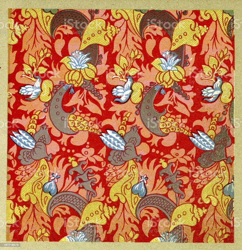 Orante 17th Century Pattern royalty-free stock vector art