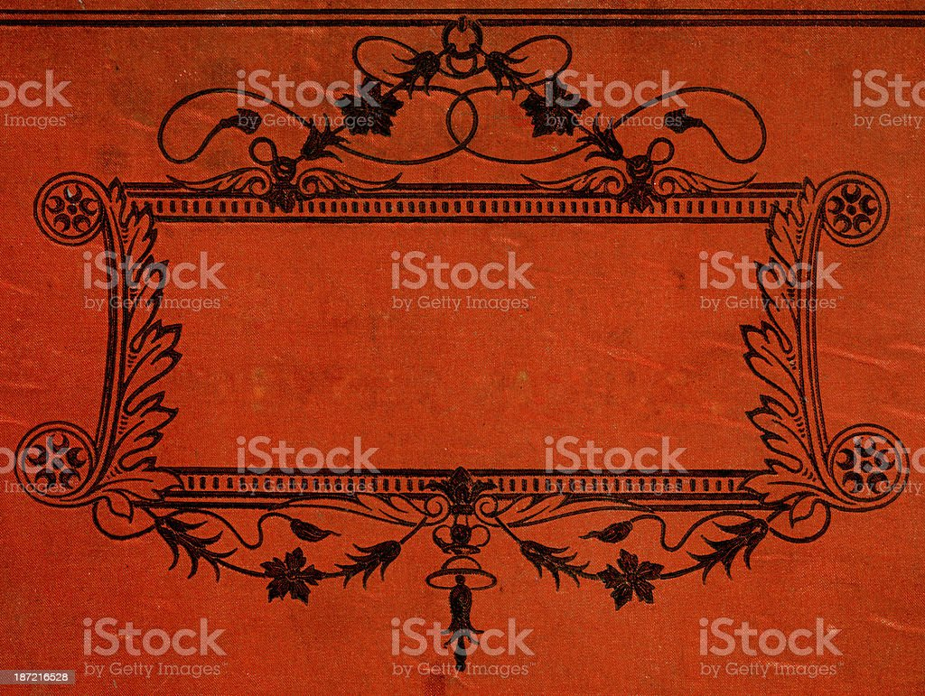 Orante black border 17th Century Style royalty-free stock vector art
