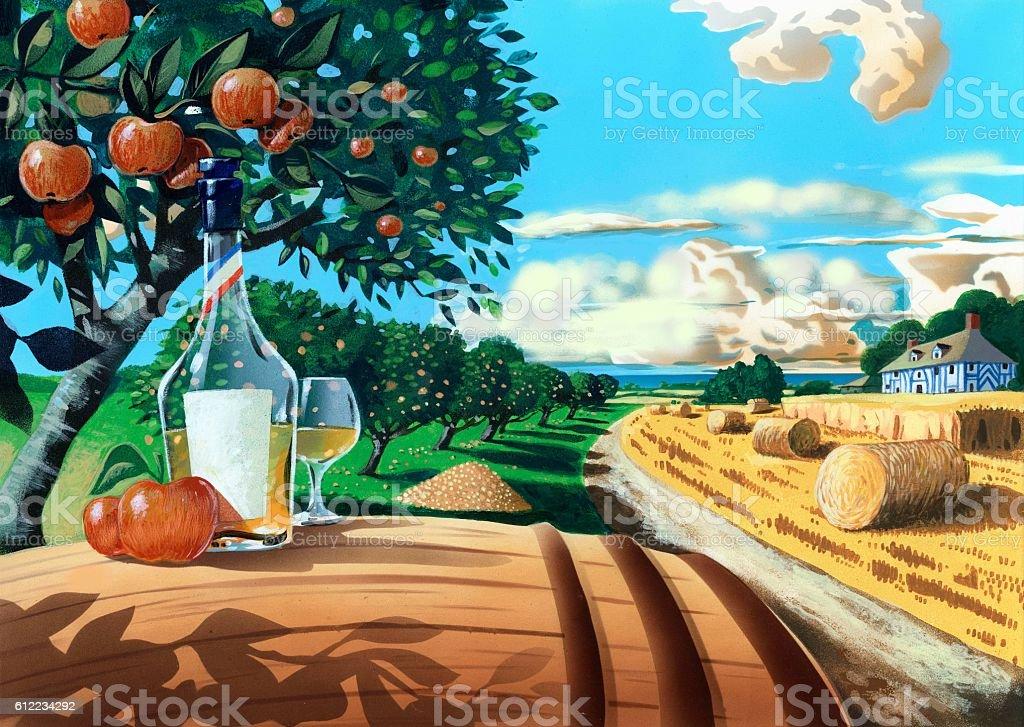 orchard1.jpg vector art illustration