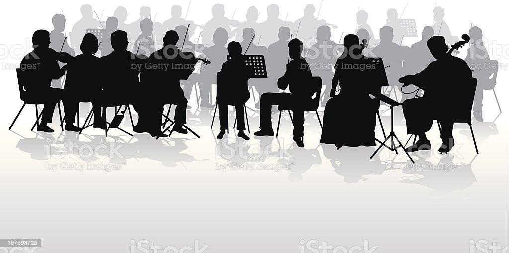 Orchestra vector art illustration