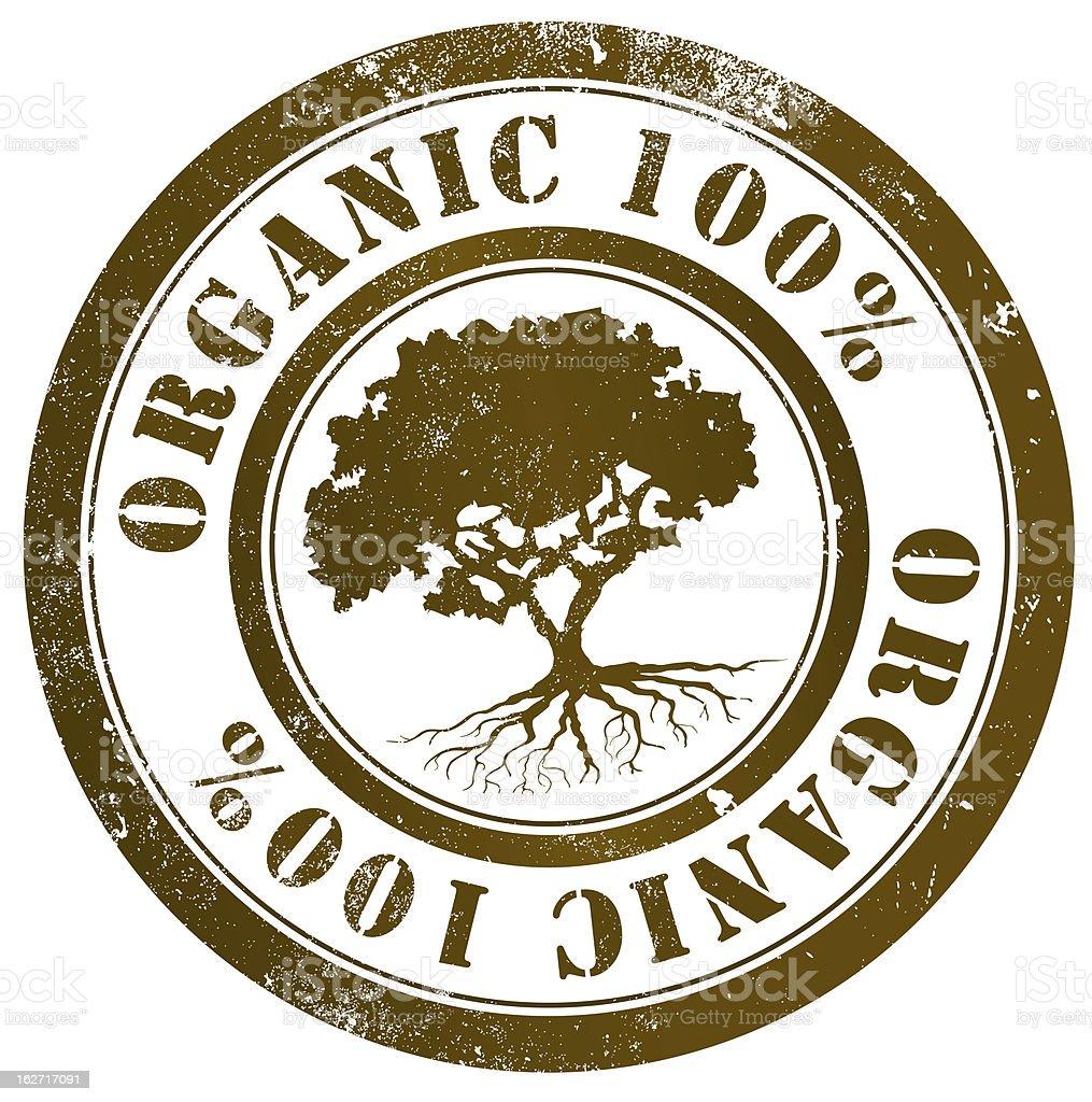 Organic 100% stamp royalty-free stock vector art