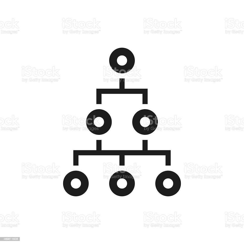 Organization Chart icon on a white background. - Single Series vector art illustration