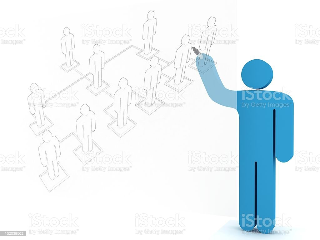 Organization Chart Planning royalty-free stock vector art