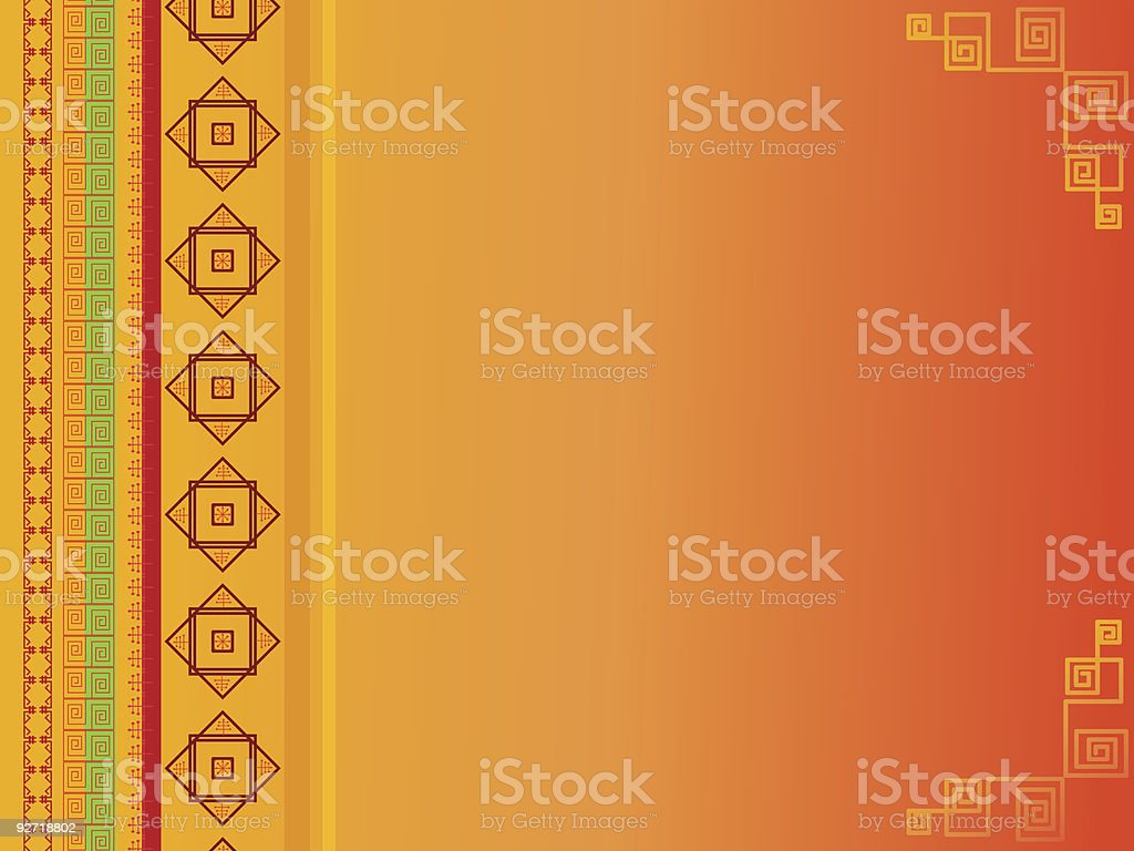 Oriental Background(vector) royalty-free stock vector art