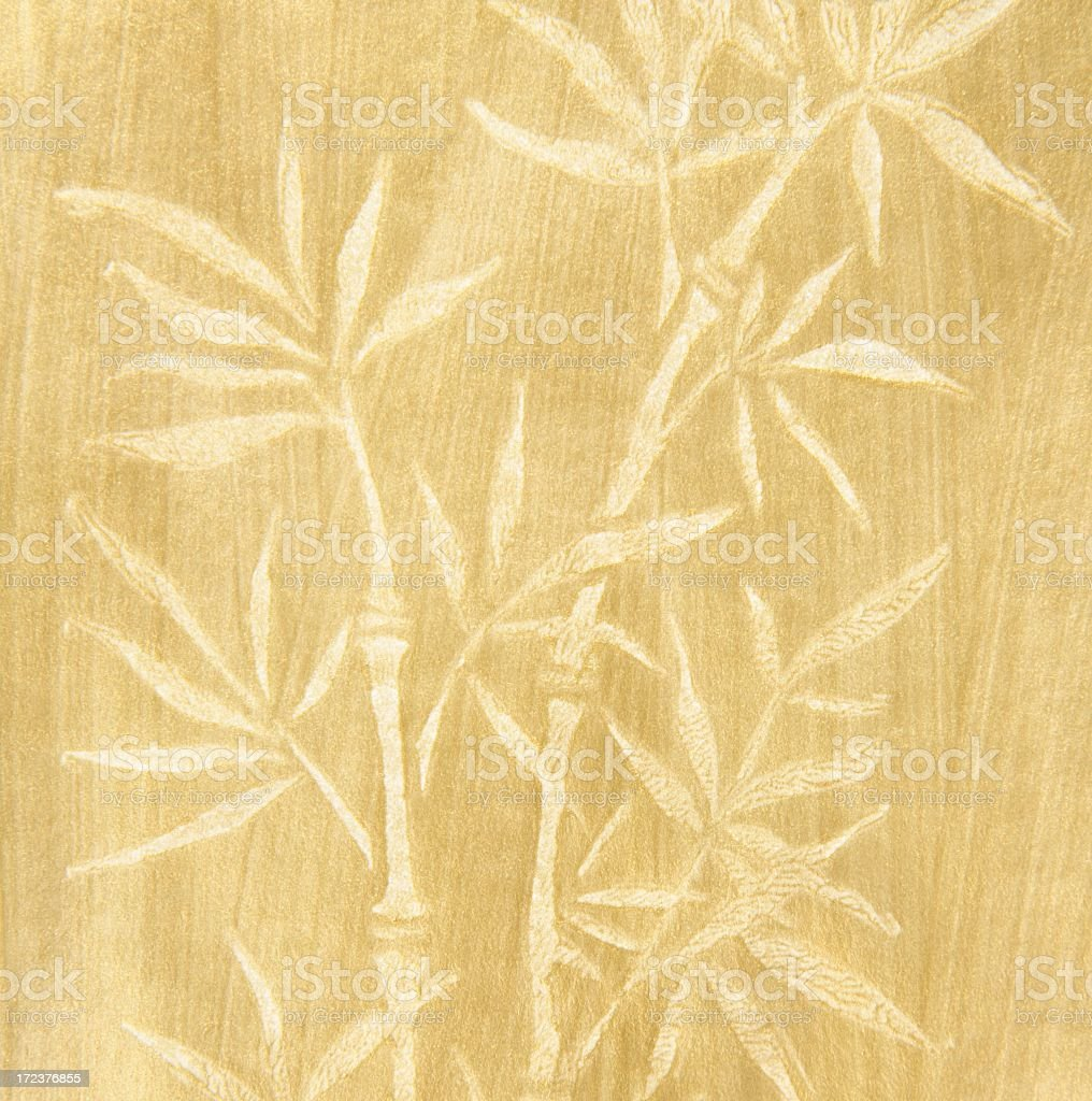 Oriental Bamboo Design vector art illustration