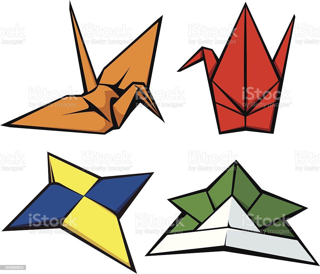 origami royalty-free stock vector art