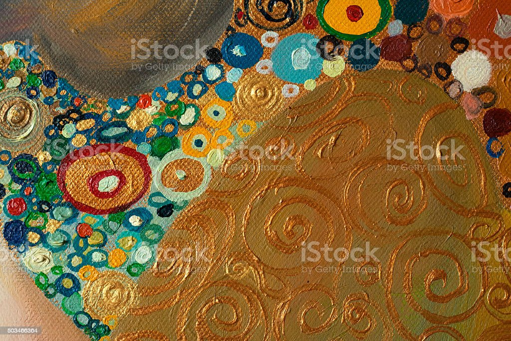Original Abstract Painting ,oil on canvas vector art illustration