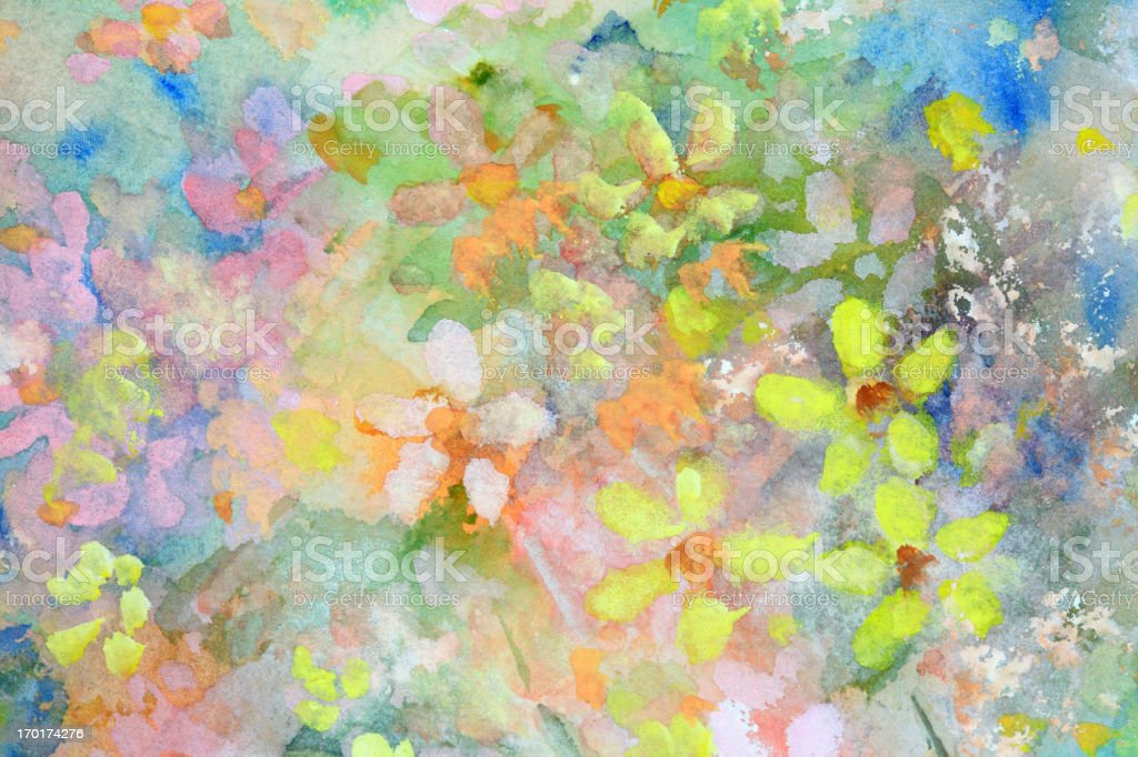 Original Art Watercolor Flowers vector art illustration