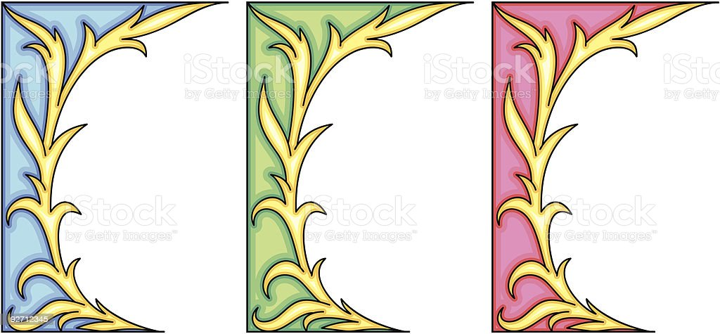 Original Vector Floral Ornament royalty-free stock vector art