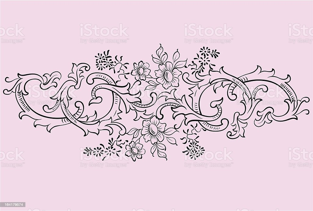 Ornament of vector royalty-free stock vector art
